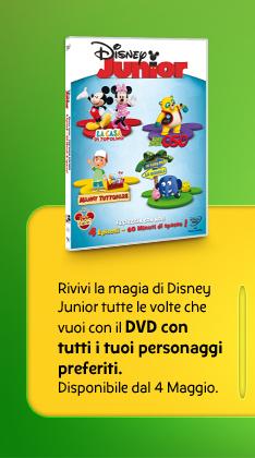 Rivivi la magia di Disney Junior tutte le volte che vuoi con il DVD con tutti i tuoi personaggi preferiti. Disponibile dal 4 Maggio.
