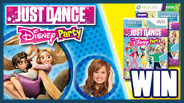 Win a Wii and Just Dance Disney Party,  the new game with dance moves from classic Disney Movies and Disney Channel shows.