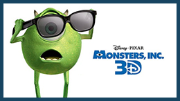 Monsters, Inc., one of Disney•Pixar's most beloved and visually imaginative feature films ever, returns to the big screen, this time in stunning 3D.