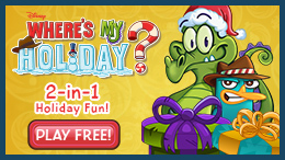 Love where's My Water? Try the all new free app Where's My Holiday starring Swampy and Perry, featuring 12 exclusive Christmas themed levels.