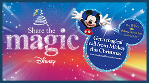 Final few days to make someone�s Christmas truly special. Share the Magic and book a magical call from Mickey Mouse.