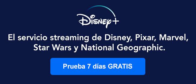 Disney+ El servicio streaming de Disney, Pixar, Marvel, Star Wars y National Geographic.